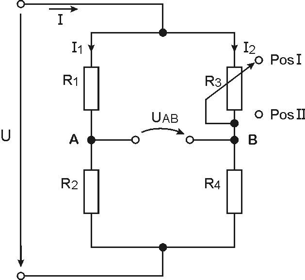 potentiometer widerstand berechnen wheatstonebr cke. Black Bedroom Furniture Sets. Home Design Ideas
